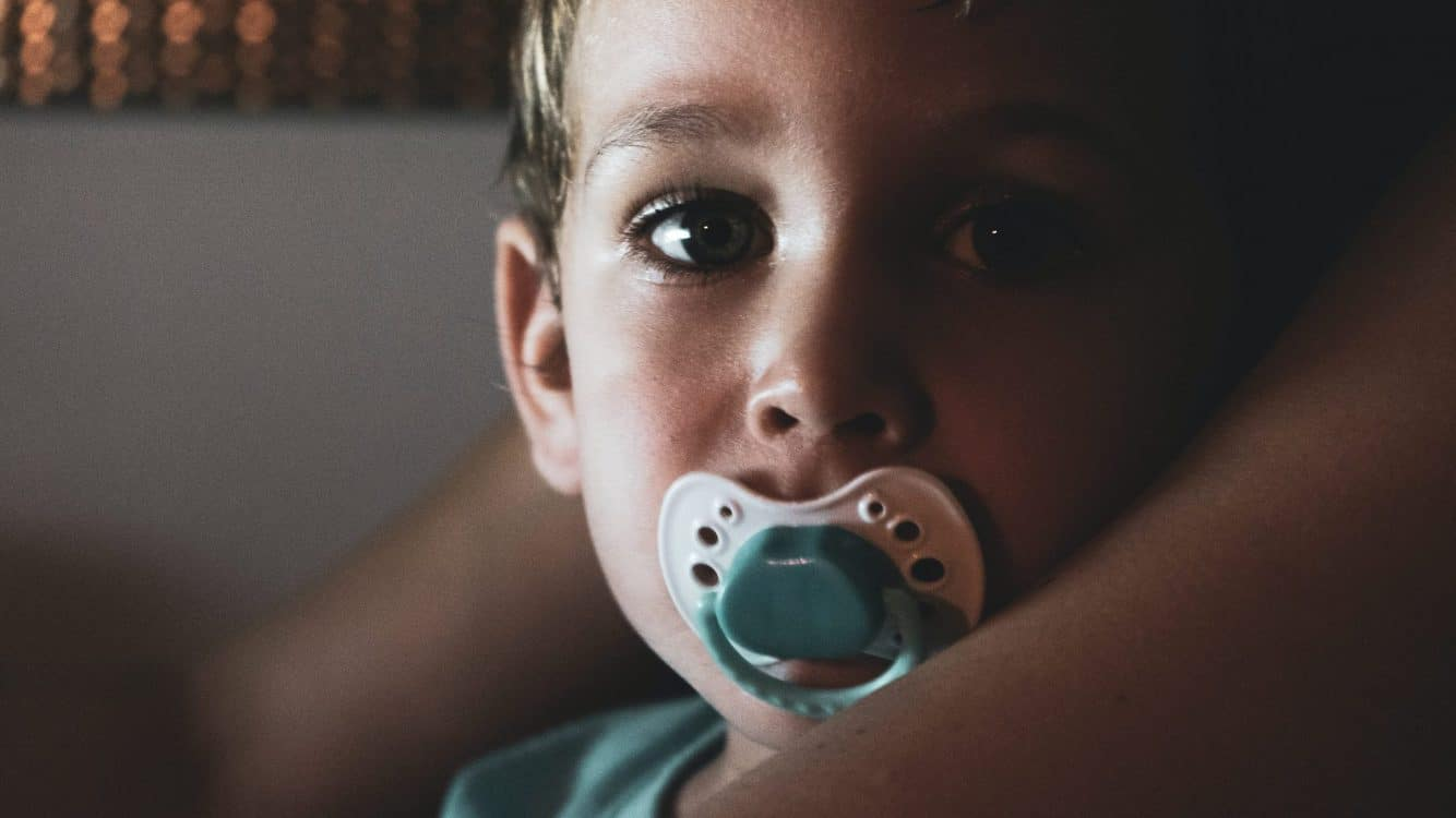 Best non-toxic pacifiers - close-up-photo-of-boy-with-pacifier