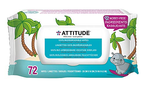 Attitude Biodegradable Baby Wipes for Sensitive Skin Product Image