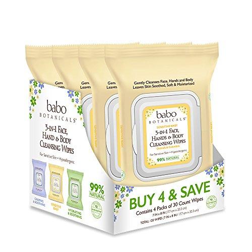 Babo Botanicals 3-in-1 Sensitive Baby Wipes Product Image