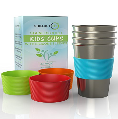 7. Stainless Steel Cups for Kids and Toddlers Product Image