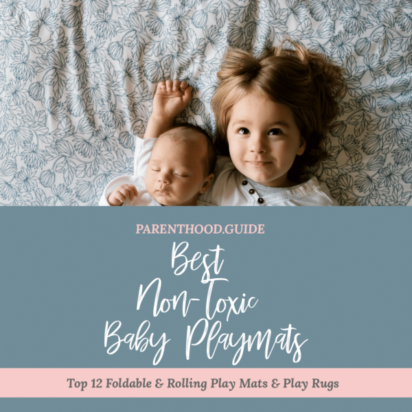 Best non-toxic baby play mats- title infographic