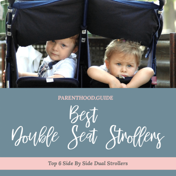 best side-by-side double stroller: top double seat stroller- title infographic