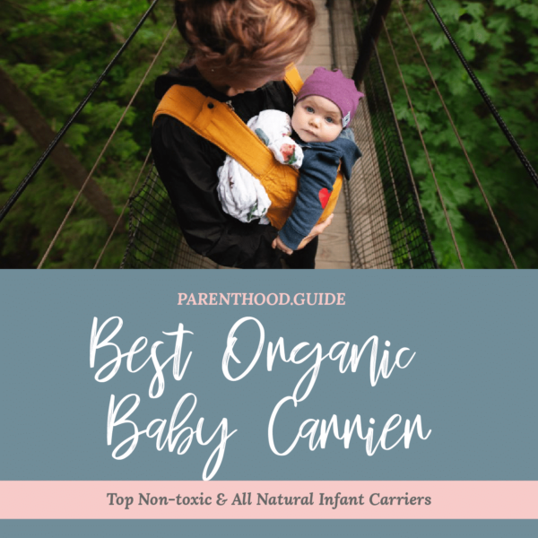 Best organic baby carrier- title infographic