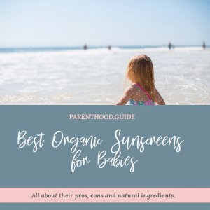Best organic sunscreen for babies and kids- title infographic