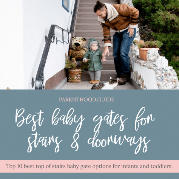 Best Top of Stairs Baby Gate for Stairs and Doorways Title Image