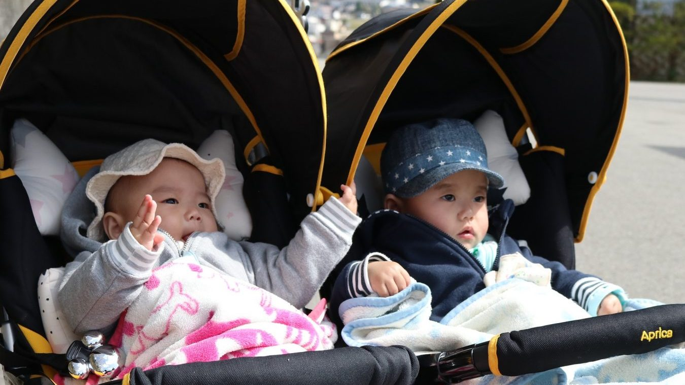 non-toxic twin strollers